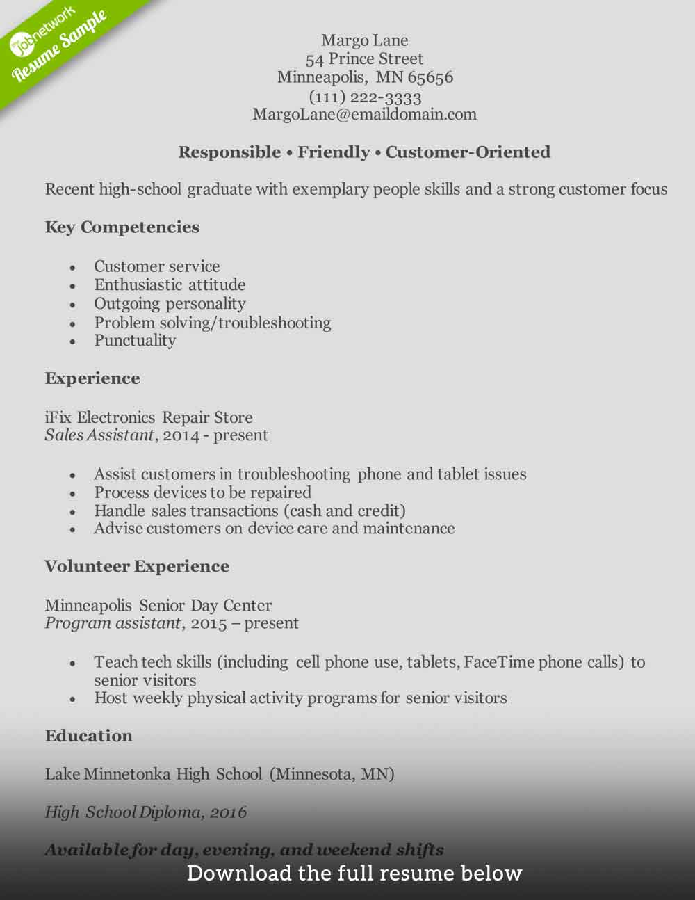 Customer Service Resume Entry Level1