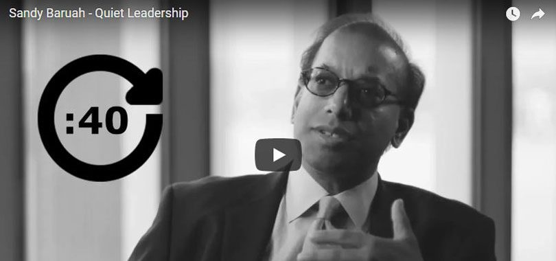 Sandy Baruah on quiet leadership