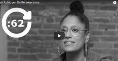 Sarah Aldridge on perseverance