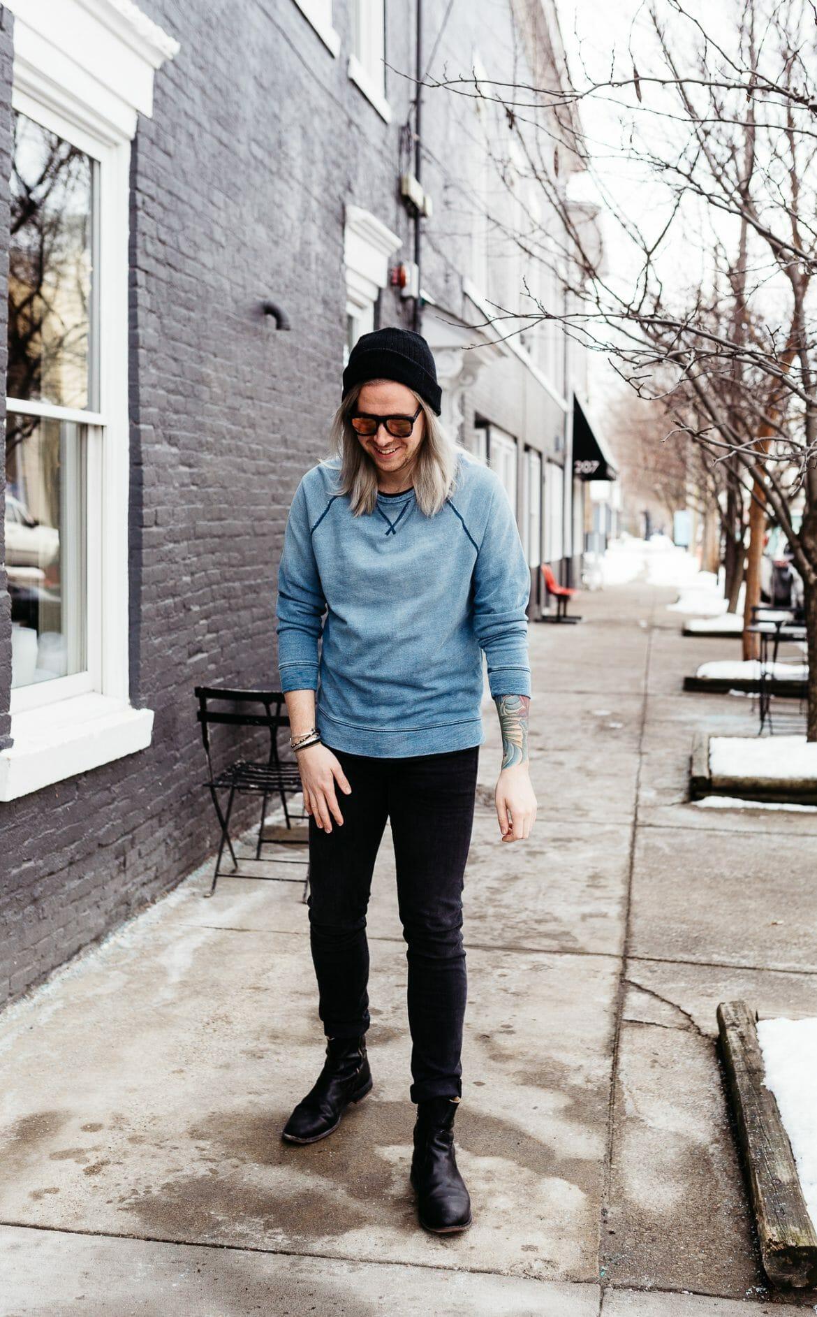 mens fashion blogger, mens colored gray hair, colored gray hair