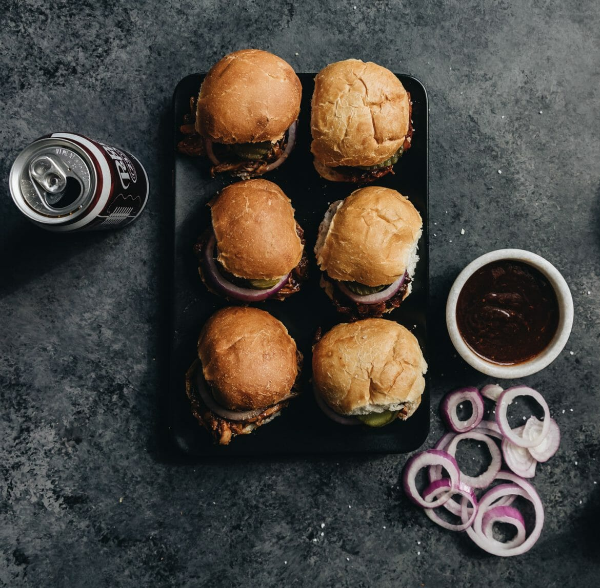 Dr Pepper BBQ Pork Sliders