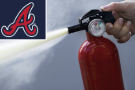 Mess for Braves from fire extinguisher damaged in anger