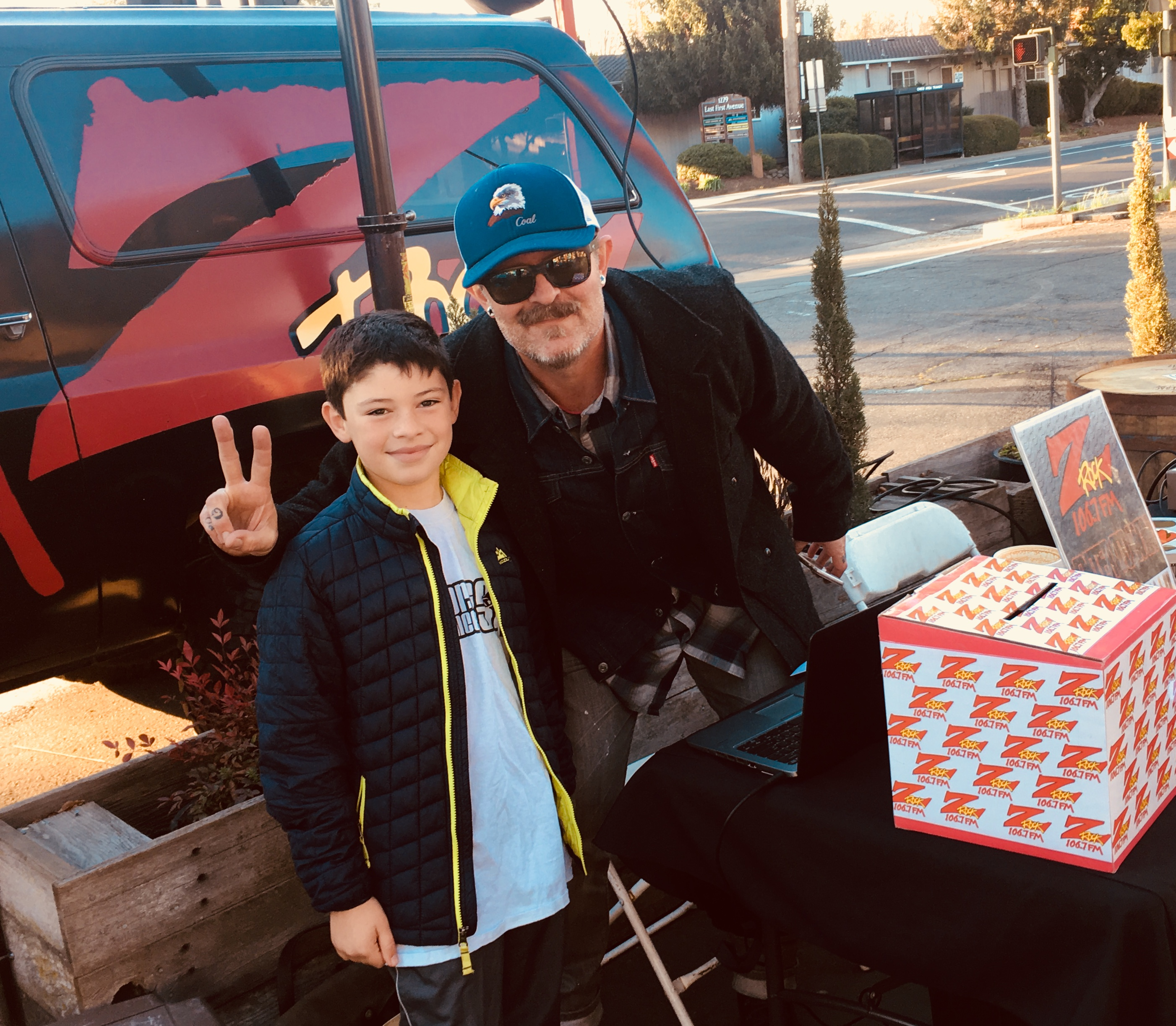 Tim Buc Moore with a junior Buc-Head outside Coffee Ranch in Chico