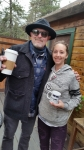 Tim Buc Moore rocking out with his coffee out with another Z-Rocker recipient of a custom Doodle Mug