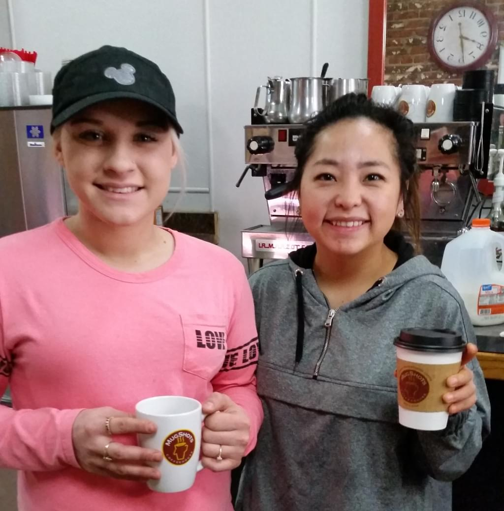 The friendly staff at Mugshots Coffee House in Oroville during Wake the Buc Up!