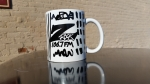 Tim Buc Moore customized Z-Rock Doodle Mug at Wake the Buc Up in Oroville at Mugshots Coffee House