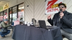 Tim Buc Moore broadcasting the Z-Rock morning show live from Fresh Twisted Cafe in Chico for Wake the Buc Up!