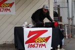 Tim Buc Moore broadcasting live for Wake the Buc Up! at Fresh Twisted Cafe in Chico
