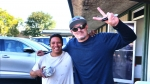 Tim Buc Moore's live morning show tour of Butte County, Wake the Buc Up with listener at the Donut Nook in Chico June 28th 2018