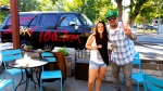 Tim Buc Moore hangs out with a listener at Coffee Ranch for Wake the Buc Up on 106.7 Z-Rock August 30th 2018