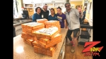 Tim Buc Moore with winner at Bidwell Senior Care in Chico for the Z-Rock Munch Box