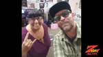 Tim Buc Moore delivers Mad Dash pizza to the crew at Evans Furniture in Chico for the Z-Rock Munch Box