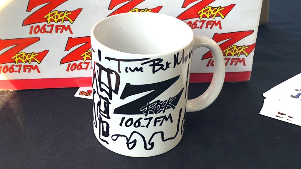 Tim Buc Moore's live morning show tour of Butte County, Wake the Buc Up Doodle Mug at River's Hot Dogs in Oroville October 25th 2018