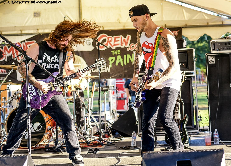 Chico California based band Amahjra plays 106.7 Z-Rock's Pumpkinhead at Manzanita Place in Chico CA October 20th 2018