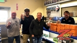 Tim Buc Moore with winner at Riebes Auto Parts in Chico for the Z-Rock Munch Box