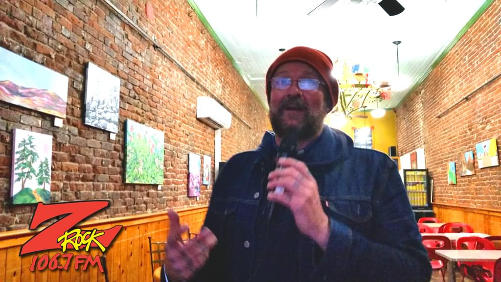 Tim Buc Moore welcoming the listeners into our second Wake the Buc Up stop of 2019 at Mug Shots Coffee House in Oroville 2/14/19