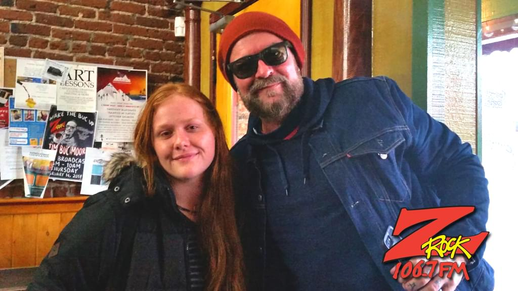 Tim Buc Moore with a Buc Head at Wake the Buc Up at Mug Shots Coffee House in Oroville CA 2/14/2019