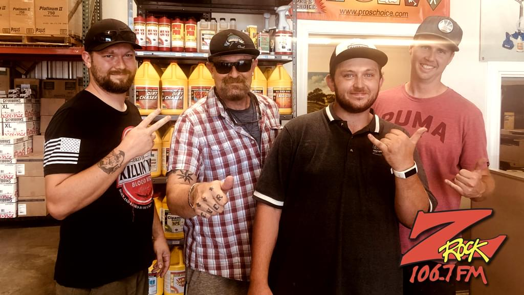 Tim Buc Moore with winners from Evergreen Supply for the Z-Rock Munch Box