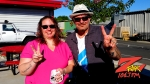Tim Buc Moore with listener at Code 3 Coffee in Chico for Wake the Buc Up on 106.7 Z-Rock