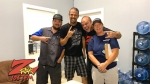 Boris with winners from Johnny on the Spot for the Z-Rock Munch Box