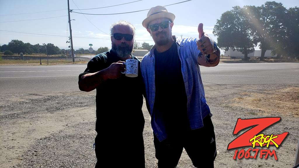 Tim Buc Moore with a Z-Rocker at Coffee Cafe in Proberta CA for Wake the Buc Up on 106.7 Z-Rock August 8th 2019