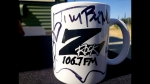 """Custom Z-Rock """"Doodle Mug"""" at Coffee Cafe in Proberta CA for Wake the Buc Up on 106.7 Z-Rock August 8th 2019"""