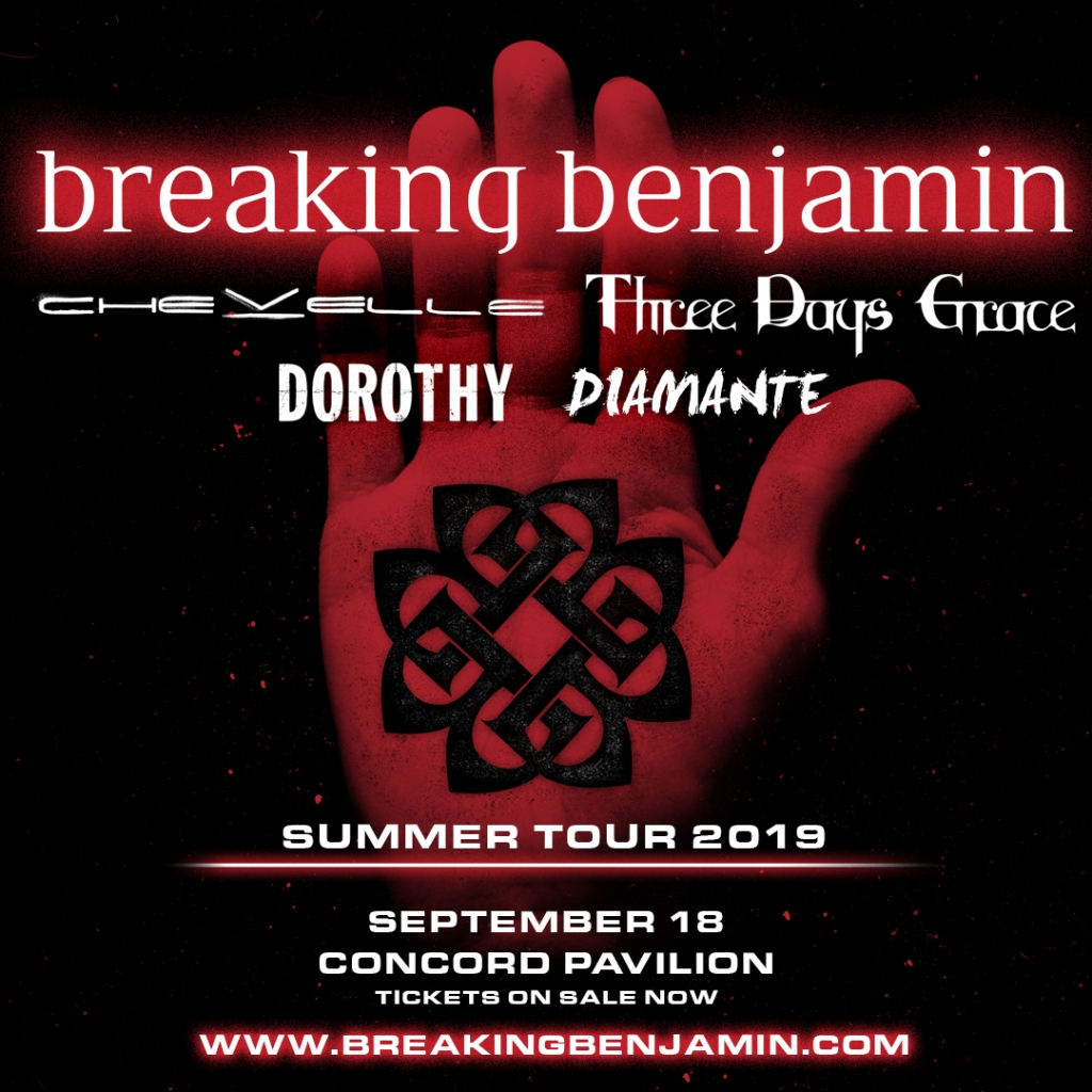 Win tickets to see Breaking Benjamin/Chevelle/Three Days Grace/DOROTHY/Diamante from 106.7 Z-Rock