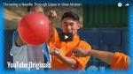 SLO-MO: Shaolin Monk throws a needle through glass!!!