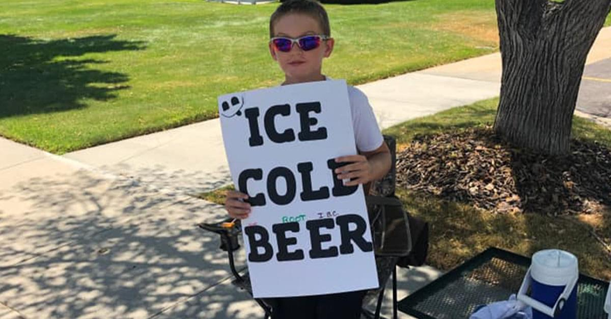 ice cold beer stand