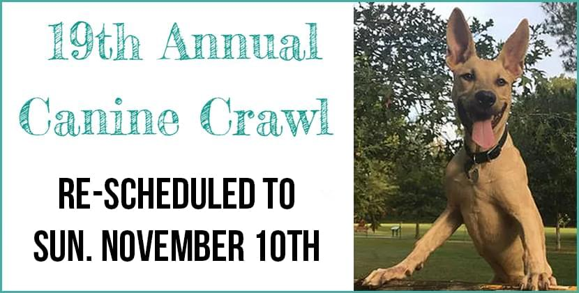 Canine Crawl Re-Scheduled to Sunday November 10th