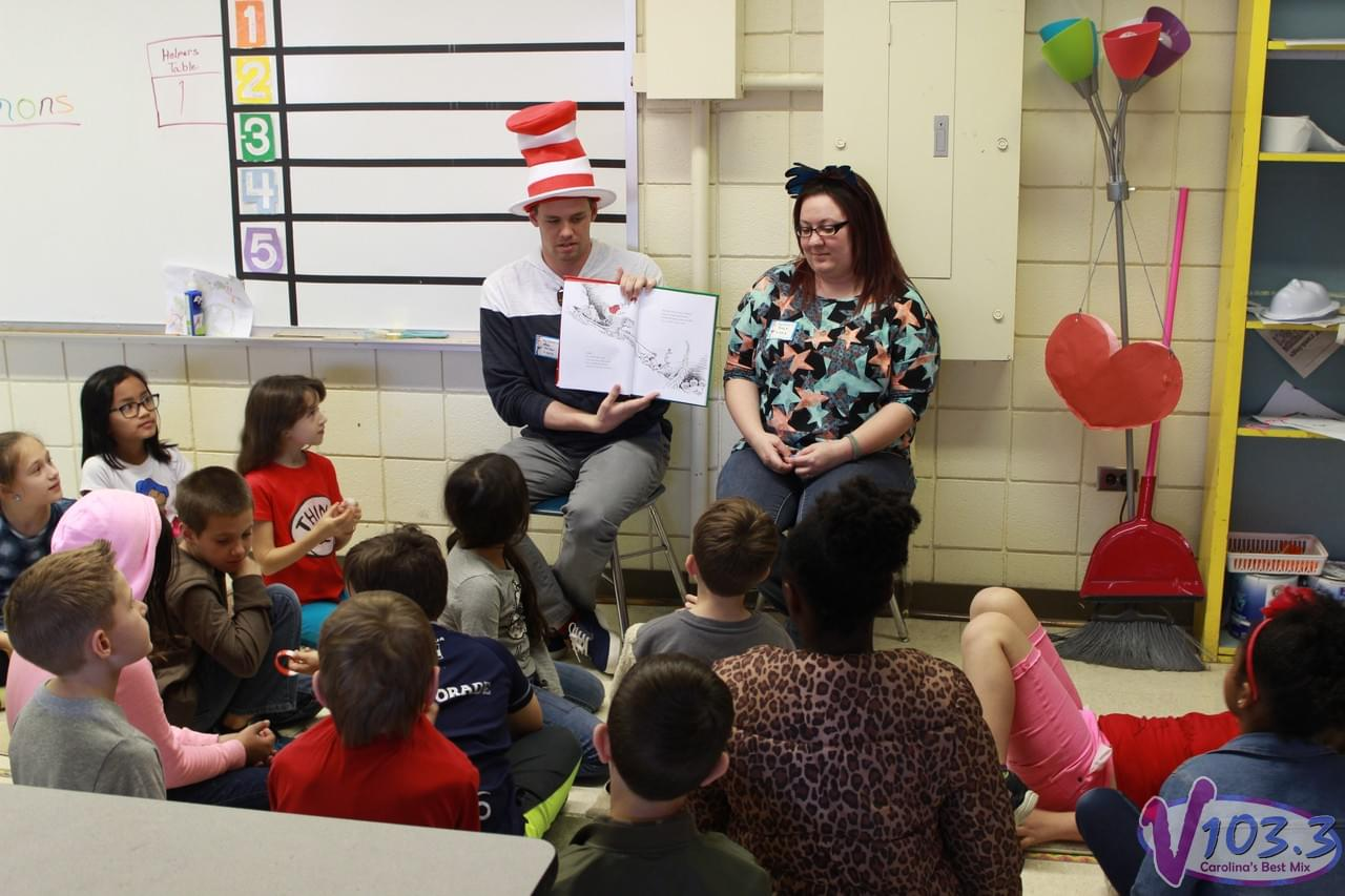 Max & Amy Celebrate Dr. Seuss' Birthday At Brinson Elementary!