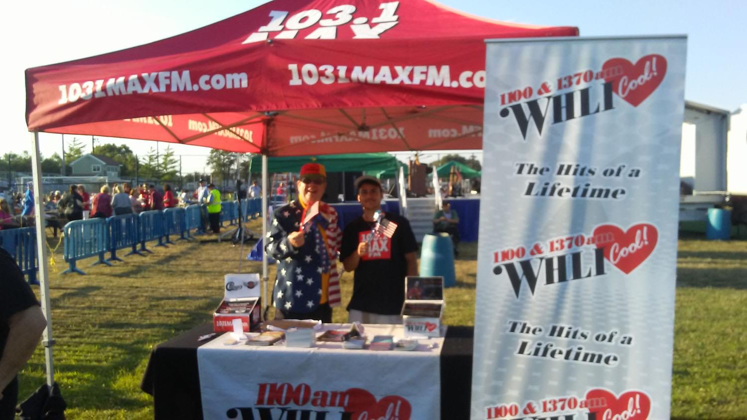 1100 WHLI AM at the Summer Concert Series