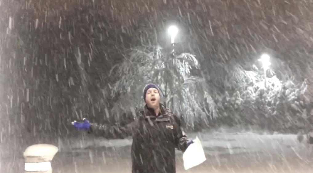 I tried To Sing 'Do You Want to Build a Snowman?' At The Height of Winter Storm Elsa