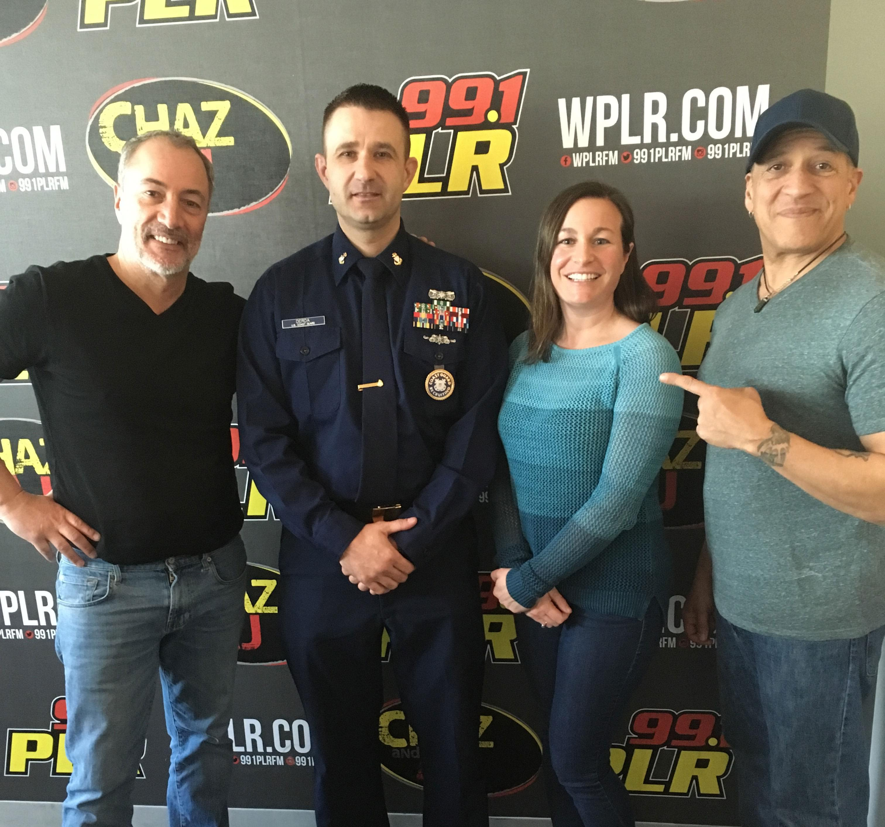 On Today's Chaz & AJ: Joe The Weed Guy With News, Chief Derda with the Coast Guard In Studio