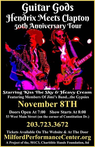 Enter to win: Guitar Gods 50th Anniversary Tour – Hendrix Meets Clapton
