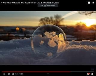 Viral Video of the Day: Soap Bubble Freezes Into Beautiful 'Ice Orb'