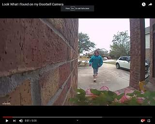 Viral Video of the Day: A Fun Find On A Doorbell Cam