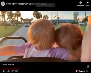 Viral Video: Golf Cart Overloaded with Cuteness