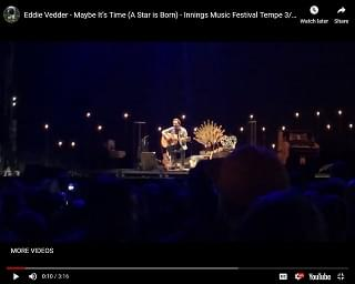 """Eddie Vedder Covers """"A Star Is Born"""" Track At Innings Festival"""