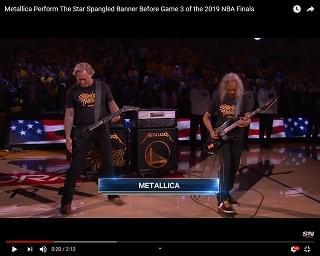Metallica Performs National Anthem at NBA Finals