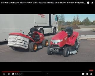 New Honda Mower Can Hit 100 MPH