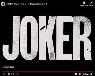 """Final """"Joker"""" Movie Trailer Drops"""