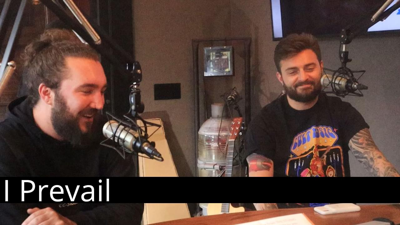 Rob Rush chats with members of I Prevail