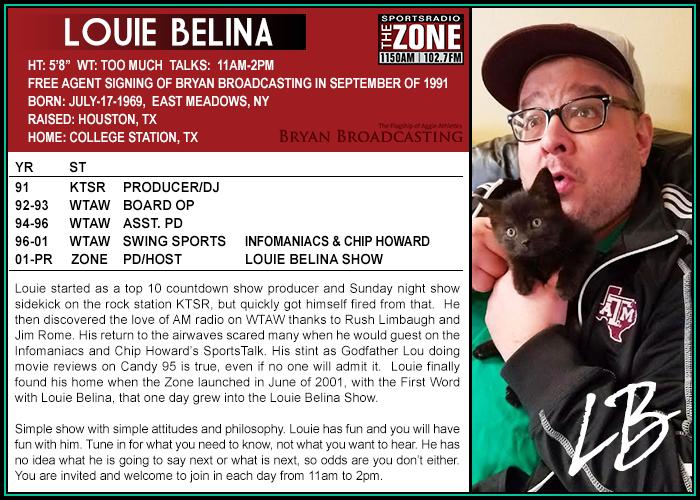 Louie Belina Card
