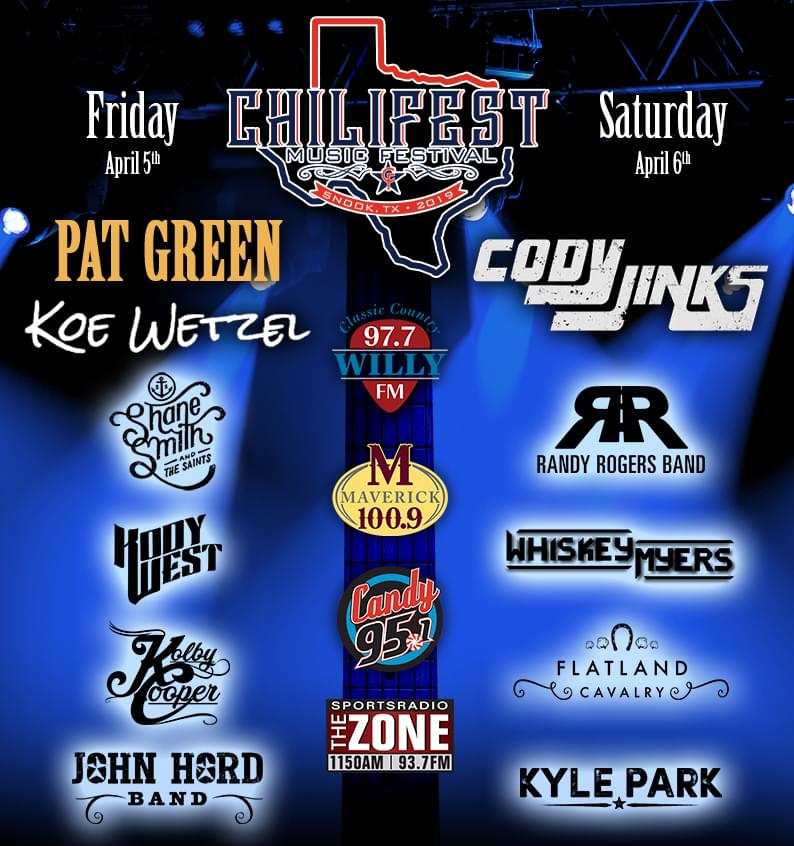 Chilifest Lineup