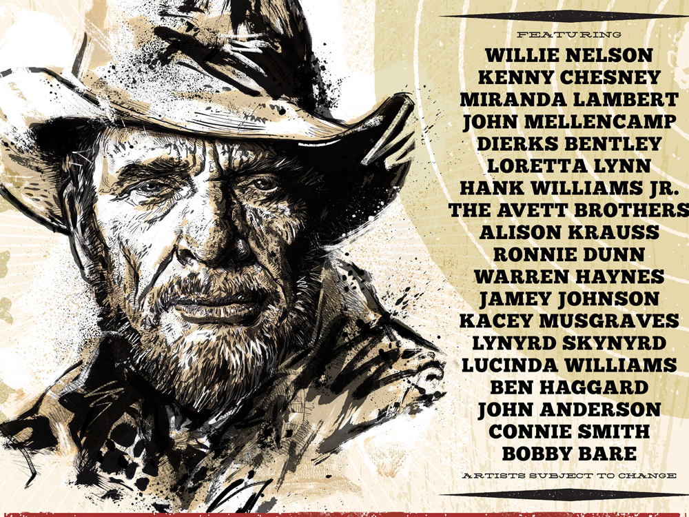 More Performers Added to the Merle Haggard Tribute Concert, Including Chris Janson, Tanya Tucker, Jake Owen & Aaron Lewis