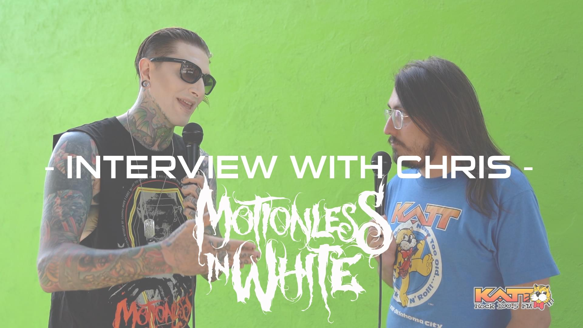 [VIDEO] Cameron talks to Chris Motionless of MOTIONLESS IN WHITE