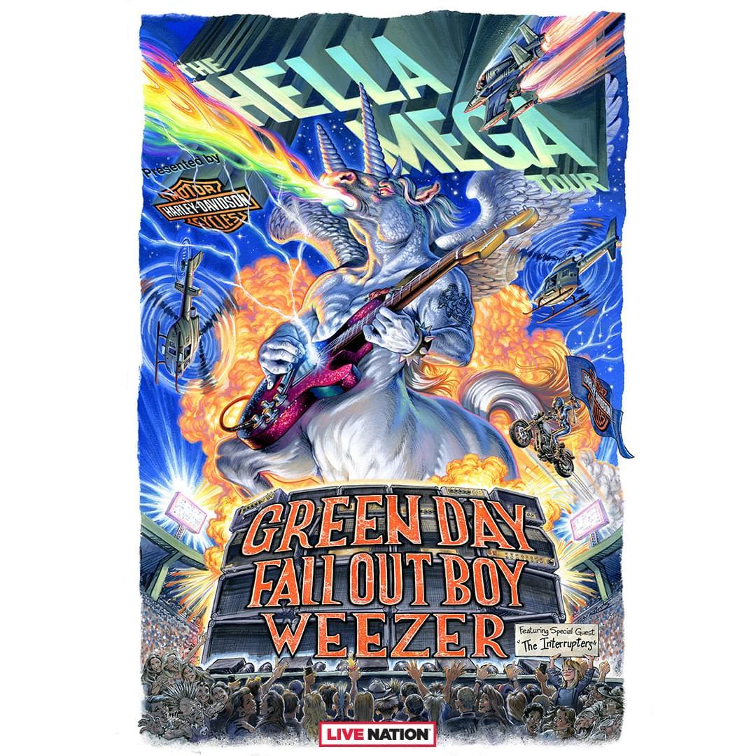 Hella Mega Tour: Green Day, Fall Out Boy, & Weezer!