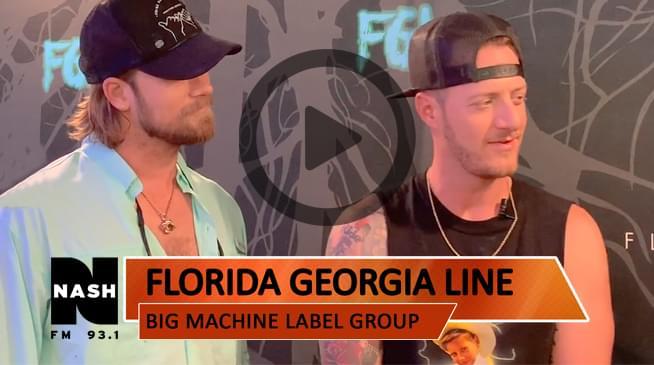 Backstage with Florida Georgia Line
