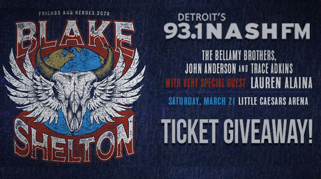 Blake Shelton's Friends and Heroes Tour Concert Giveaway!